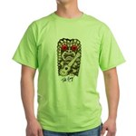 Ukulele Playing Tiki Green T-Shirt