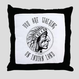 Walking on Indian Land Logo Throw Pillow