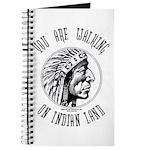 Walking on Indian Land Logo Journal
