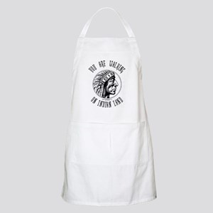 Walking on Indian Land Logo BBQ Apron