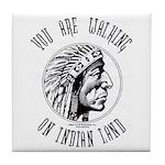 Walking on Indian Land Logo Tile Coaster