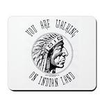 Walking on Indian Land Logo Mousepad