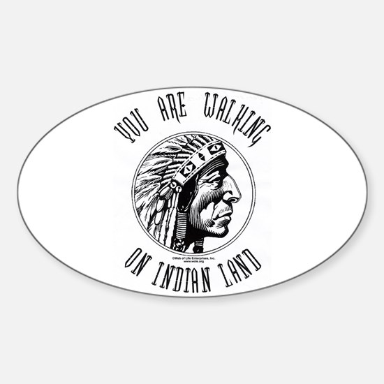 Walking on Indian Land Logo Oval Decal