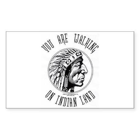 Walking on Indian Land Logo Rectangle Sticker