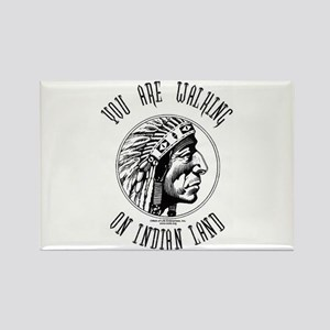 Walking on Indian Land Logo Rectangle Magnet