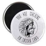 Walking on Indian Land Logo Magnet