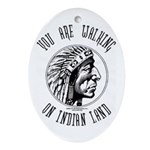 Walking on Indian Land Logo Oval Ornament