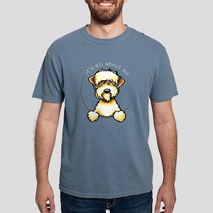 Wheaten Terrier Lover Pocket Women's Dark T-Shirt