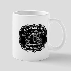 Carriage Sign Black Mug