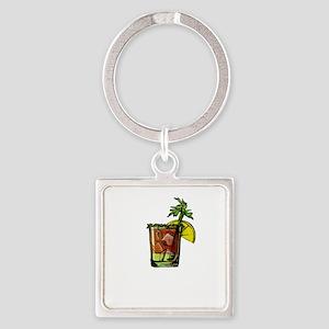Bloody Mary Liquid Brunch Drinks Keychains