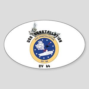 USS Constellation CV-64 Oval Sticker