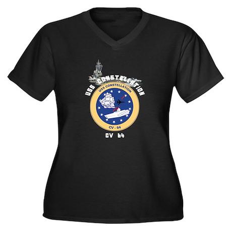 USS Constellation CV-64 Women's Plus Size V-Neck D