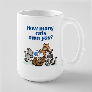 How Many Cats? Large Mug