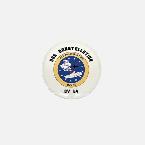 USS Constellation CV-64 Mini Button