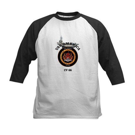 USS America CV-66 Kids Baseball Jersey