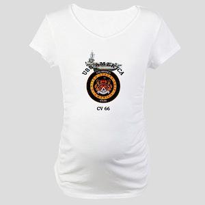 USS America CV-66 Maternity T-Shirt