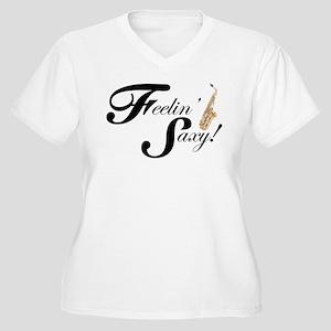 Feelin' Saxy Women's Plus Size V-Neck T-Shirt