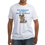 Pet Diabetes (Dog) Fitted T-Shirt