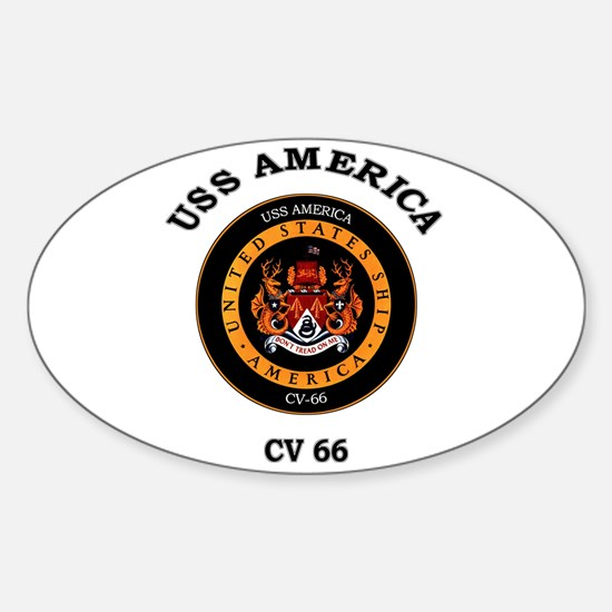 USS America CV-66 Oval Decal