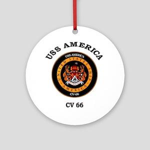 USS America CV-66 Ornament (Round)