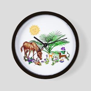 Animal Picnic Wall Clock
