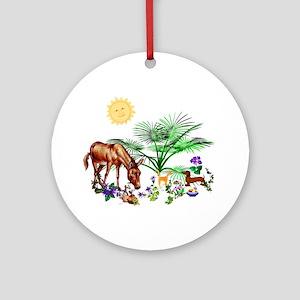 Animal Picnic Ornament (Round)
