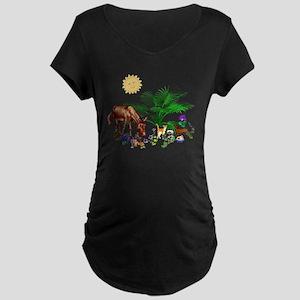 Animal Picnic Maternity Dark T-Shirt