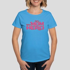 MY MOM MY HERO Women's Dark T-Shirt