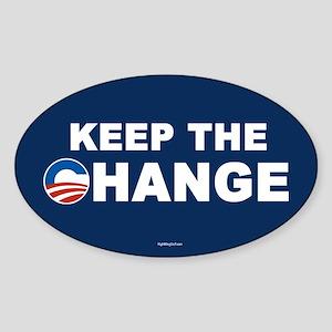 Keep Change Anti-Obama Oval Sticker