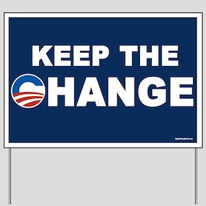 Keep Change Anti-Obama Yard Sign