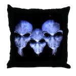 Three Grays Throw Pillow