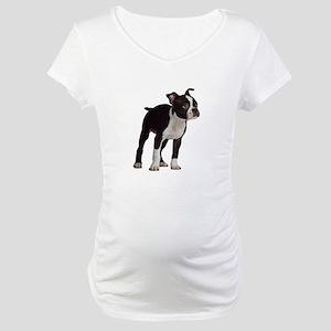 Boston Terrier Maternity T-Shirt
