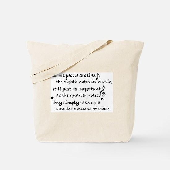 Short Music Tote Bag