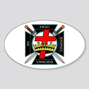 Knight of the Temple Oval Sticker