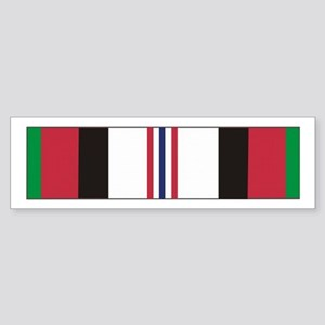 Afghanistan Campaign Ribbon Bumper Sticker