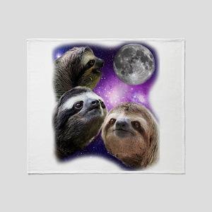 Sloth Shirt - Three Sloths Moon Paro Throw Blanket