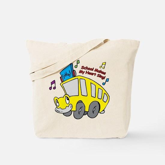 School Heart Sing Tote Bag