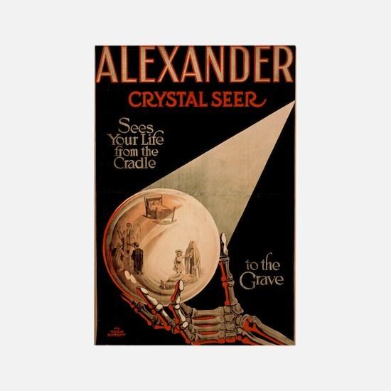 Alexander Crystal Seer Rectangle Magnet