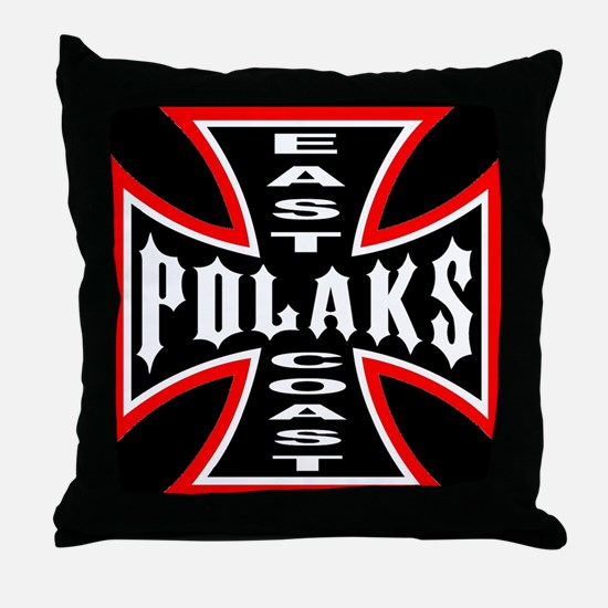 Funny Polaks Throw Pillow