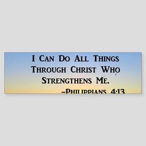 PHILIPPIANS 4:13 Sticker (Bumper)