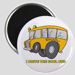 I Drive Cool Bus Magnet