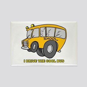 I Drive Cool Bus Rectangle Magnet