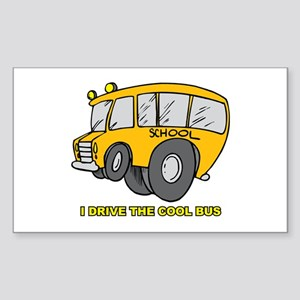 I Drive Cool Bus Rectangle Sticker