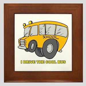 I Drive Cool Bus Framed Tile