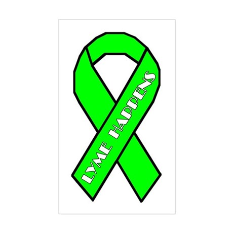 Lyme Disease Awareness Sticker (Rectangle)
