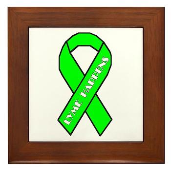 Lyme Disease Awareness Framed Tile