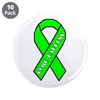 "Lyme Disease Awareness 3.5"" Button (10 pack)"