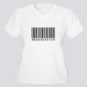 Broadcaster Barcode Women's Plus Size V-Neck T-Shi