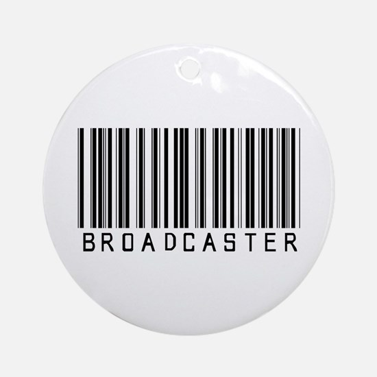 Broadcaster Barcode Ornament (Round)