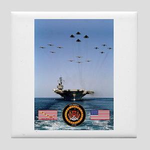 USS America CV-66 Tile Coaster